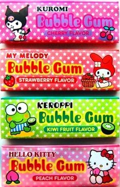 Hello kitty gum.  Awesome!  I want the peach flavor!