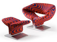 pierre paulin ribbon chair | Pierre Paulin´s Ribbon Chair in Jack Lenor Larsens Momentum Blue ...