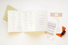 MaeMae Paperie :: by Megan Knight Gonzalez :: Custom Stationery + Designs Custom Stationery, Stationery Design, Wedding Stationery, Unique Wedding Programs, Wedding Ideas, Square Logo, Beautiful Calligraphy, Wedding Prints, Martha Stewart Weddings
