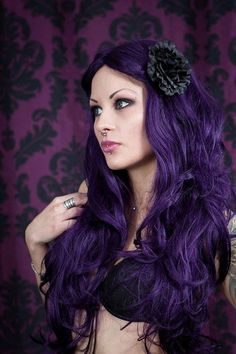 purple majesty on pinterest purple hair lavender hair. Black Bedroom Furniture Sets. Home Design Ideas