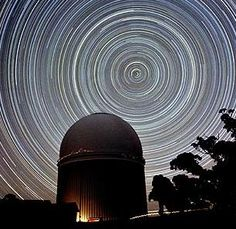 """yungcosmonauts: """" South Pole Star Trails If you take a long exposure photograph of the night sky you will capture the movement of the stars (caused by the Earth's rotation). If you are lucky enough to. Time Lapse Photography, Photography Camera, Photography Tutorials, Photography Ideas, Telescope Pictures, Polaroid, Astronomical Observatory, Star Trails, Pole Star"""