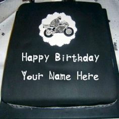 Happy Birthday Bike Cake With Name Wishes Profile Set Pictures. Print Name wishes Birthday cake Profile Photo. Online Create his or Her name Cake Image. Unique Birthday Cake Pics. Write boy or Girl Name Wishes Cake Pix. Latest Amazing Cool Birthday Cake. Sand Whatsapp and Facebook DP Profile. Download New Special birthday Cake With Name Wallpapers Free.
