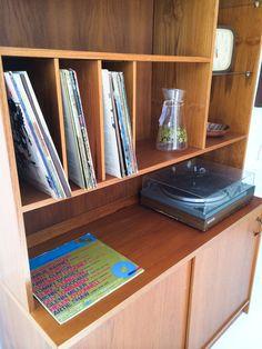 Danish Teak Media Cabinet. Perfect For Storing Vinyl.