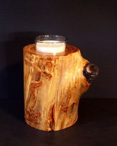 Urn for Ashes and Votive Holder made from quaking aspen in the Colorado Rockies, selected for its natural beauty and finished with care.  Holds 25 lbs.