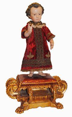 Niño Jesús con peana, España, s. XVII
