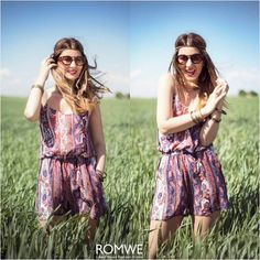 Romwe Boho Paisley Pattern Romper Only $11.99, only on 24th July, starting at 1:00AM(GMT), for 24 hours only Free shipping worldwide  Here you go >> http://www.romwe.com/romwe-boho-paisley-pattern-romper-p-83045.html