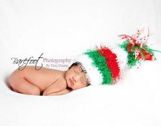 Fuzzy ELf Christmas Hat OOAK by KnitTillDeath on Etsy, $35.00