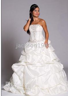 Wholesale Taffeta Gathered Gown with Removable Skirt LACE -UP Wedding Dresses (WDE02Q12), $106.82/Piece | DHgate