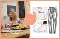 'Puppies and Pianos' Vlog // 4th August  Urban Outfitters Truly Madly Deeply White Girls T-Shirt - sold out :(  Topshop Mensy Striped Peg Trousers - £40  Converse All Star High Top White Trainers - £50