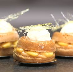 Savarin with Caramel Apple and Clotted Cream | ifiGOURMET. Just one of the many NEW recipes on our NEW website!  www.ifigourmet.com