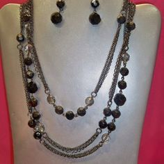 Premier Designs Jewelry! Order from me today! Downtown necklace and earrings.