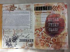 Week 1 of Take Me Deeper, Scripture journaling by Dianne Marra