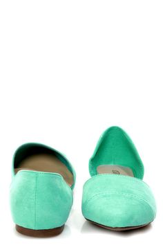 Dolley 03 Mint D'Orsay Pointed Flats - $21.00  http://www.lulus.com/products/dolley-03-mint-d-orsay-pointed-flats/86594.html