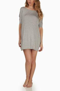 Light-Grey-Maternity-Sleep-Shirt