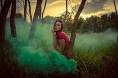 Instead of a smoke bomb could have model smoking weed