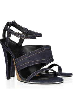 Bottega Veneta Denim and leather sandals