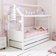 House Beds For Kids, Bed For Girls Room, Kid Beds, Girl Room, Cute Beds For Girls, Girls Bed With Storage, Girls Bedroom, Bunk Beds, Girls Trundle Bed