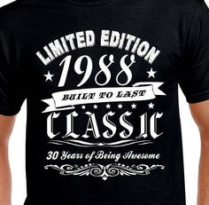 Items Similar To Funny Birthday Gift T Shirt For Husband Brother Friend Son Boyfriend Man Turning Age 30 Years Old 1987 Born Tshirt Humor On Etsy