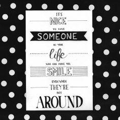 someone around
