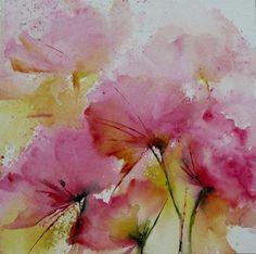 N°6 (Painting),  20x20 cm by Véronique Piaser-Moyen Aquarelle originale sur papier 300G