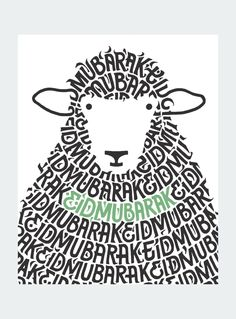 The Adhiya, represented by a fluffy haired sheep, uses strong but playful typography to fill out the body our sacrifice. Use these cards as you prepare for the up coming holiday to spread cheer, keep