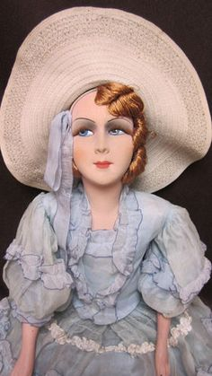 French Boudoir Doll ...a term to describe lady-dolls made in early twentieth century as mascots for adults.