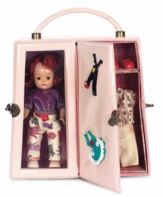 American Dolls 1950-1965: 330 Red-Haired Muffie in Travel Case by Nancy Ann