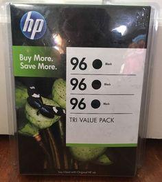 New SEALED Genuine HP Tri Value Pack 96 Black Ink Has 3 Cartridges | eBay