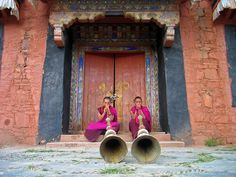 Labrang monastery in Xiahe, China. Photo by Philip Jolly and the horns are cool too!