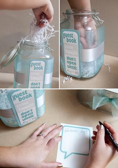 DIY Wedding Guest Books | Your guests will write you a sweet note, draw you a silly picture ...