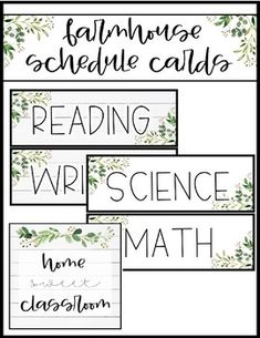 "Farmhouse Classroom Decor Schedule ***FREE BONUS: ""Home sweet classroom"" poster Two versions: Shiplap background and White pre-made schedule cards in each AND a blank copy of each for you 3rd Grade Classroom, Middle School Classroom, Classroom Posters, Classroom Setup, Classroom Design, Kindergarten Classroom, Future Classroom, Classroom Organization, Classroom Board"