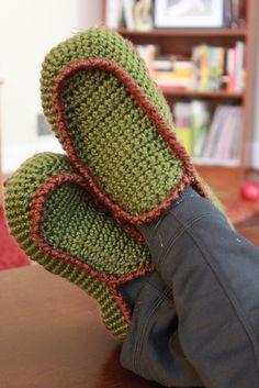 Ravelry: Men's Loafer Style House Slipper pattern by Dawn Gillis