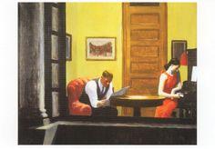 "Edward Hopper in a postcard ""Room in New York"" 1923"