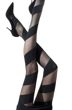OPAQUE SPIRAL ON SHEER TIGHTS, 20/60 DENIERS           COMPOSITION: 93% POLYAMIDE-NYLON - 7% ELASTANE-SPANDEX  Price:  $25.05 	( £ 21.29
