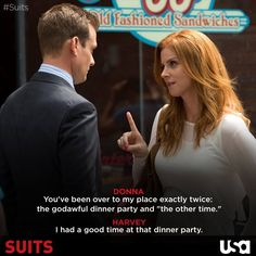 Gabriel Macht as Harvey Specter and Sarah Rafferty as Donna Paulsen in Suits Serie Suits, Suits Tv Series, Sarah Rafferty, Suits Show, Suits Tv Shows, Suits Usa, Gabriel Macht, Harvey Specter, Donna Harvey