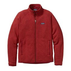 Patagonia Men\'s Better Sweater Fleece Jacket - Cochineal Red. My most comfortable sweater that I own! I use on the trail with my Capilene base layer and keeps me warm down to 40 degrees. It's not only for hiking but for running errands to going to the movies.