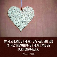 My physical being is weak and full of sin but I take refuge in our Lord God Almighty who renews our spirit each day with His strength