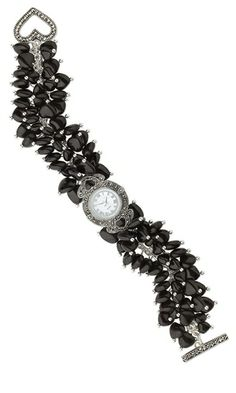 Watch with Marcasite Watch Face and Czech Pressed Glass Beads - Fire Mountain Gems and Beads