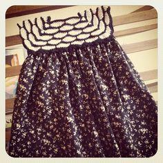 crochet & fabric dress