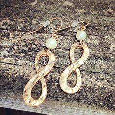 Gold Infinity Hammered Earrings $24.99! https://www.southernfriedchics.com/gold_infinity_hammered_earrings_p/203800.htm