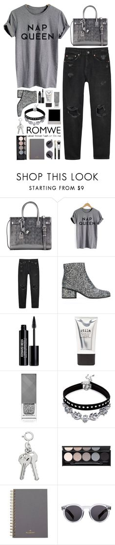 """""""don't act like you know me"""" by luizajarosa ❤ liked on Polyvore featuring Yves Saint Laurent, Monki, Marc Jacobs, Edward Bess, Stila, Burberry, Witchery, Mulberry and Illesteva"""