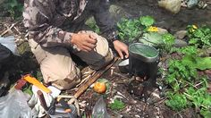 Wild edible plant gather and Firebox lunch