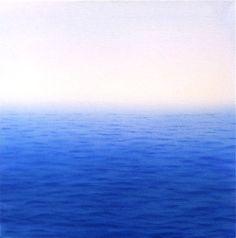 Deep Ocean oil on canvas semiabstract seascape by MardivaStudio, $185.00