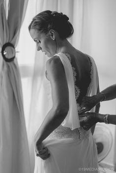 Vestido de Miguel Angel Company modisto de bodas en Mallorca #fotografia #boda #mallorca