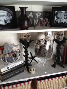 Halloween Decor- This is my own Halloween decor using ideas from Pottery Barn, but purchasing all the items from Michaels!