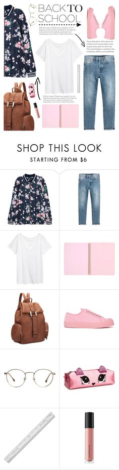 """""""Go Back to School Shopping"""" by glamorous09 ❤ liked on Polyvore featuring H&M, Dasein, Novesta, Bare Escentuals and BackToSchool"""