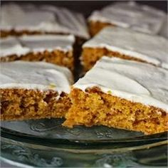 Paul's Pumpkin Bars | FoodGaZm..