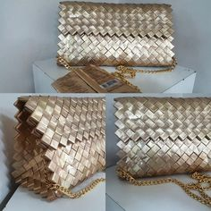 Handmade Purses, Craft Bags, Candy Bags, Recycled Art, Paper Design, Chanel Boy Bag, Purses And Bags, Creations, Weaving