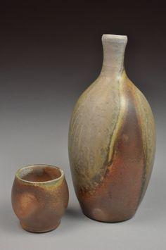 Justin Lambert  |  Wood-fired whiskey bottle & cup Set.