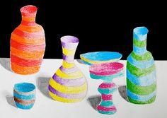 arteascuola: Striped bottles and vases